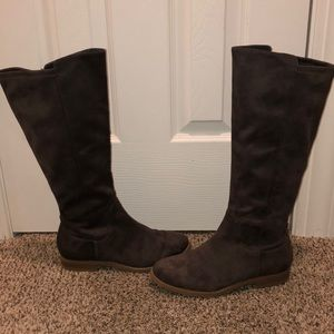Chocolate Suede Tall Boots - Old Navy - 8